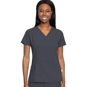 Med Couture Activate V Neck Scrub Top M